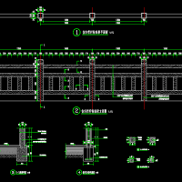 设计经典的混凝土仿木栏杆CAD图纸