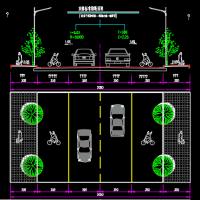 两车道市政道路工程施工图116张CAD(含交通照明绿化排水)