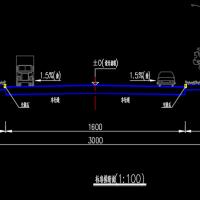 城市道路全套施工图纸(含说明书)