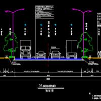 26米宽山区城市道路全套施工图纸(道路|排水|照明|生态护坡)