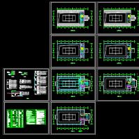 某地小型网球馆电气设计图纸