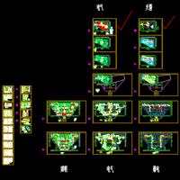 五金机电城大商业卖场电气设计图