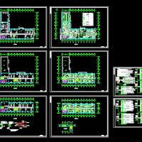 某三层办公综合楼电气设计CAD图纸