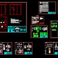 某地箱式变电站电气设计通用CAD图纸