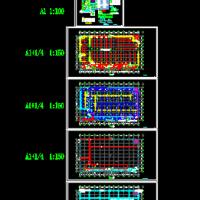 一层服装生产厂房全套电气施工图纸(丙类)