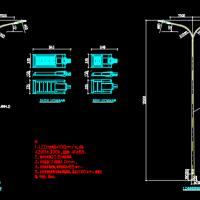 市政道路照明设计图(含路灯灯杆及基础图)