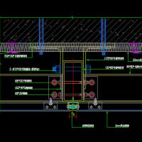 铝板幕墙安装节点CAD图纸