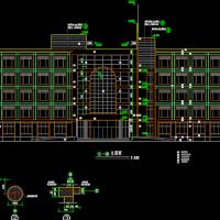 5层砖混结构门诊楼建筑图纸