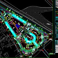 三角地块医院总平面规划图