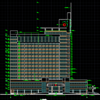 某地十六层框架结构医院建筑设计施工图纸