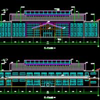 2500平米福利中心养护楼建筑施工图