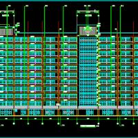 11层住院部建结水电暖通全套图(隔减振)详细
