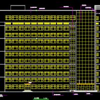 河北13层县级人民医院住院部建筑设计施工图