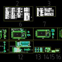 南方两层体育活动中心建筑设计施工图(体育馆、游泳馆及篮球馆)