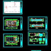 某中学风雨操场体艺馆建筑设计图纸(篮球馆)