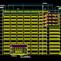 某医院住院部大楼建筑设计图,