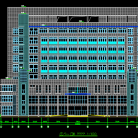 某县框架结构医院门诊楼及医技楼建筑设计图