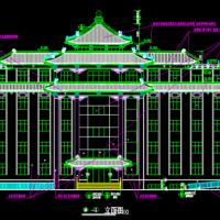 五层框架结构仿古办公楼建筑设计施工图(节点详细)