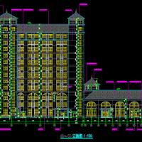 12层医院办公楼建筑结构及人防设计图