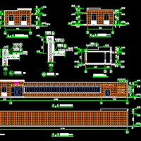 河北某地一层地磅房办公房建筑设计施工图
