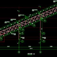 37m跨钢结构输煤栈桥皮带走廊设计图纸