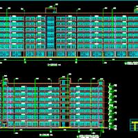 某医院二类高层行政办公楼建结水电暖全套图