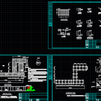 h形花架CAD施工图纸