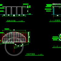 某地小广场花架CAD设计图