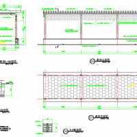 长廊花架施工详图