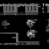 艺术花架景墙设计CAD大样图