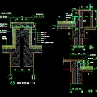 某建筑外墙三个变形缝节点详图