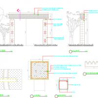 镂空大门入口景观设计图