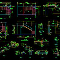 各种钢楼梯CAD图纸
