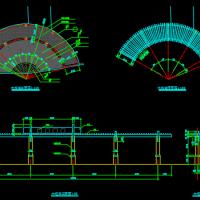 木柱廊花架施工详图