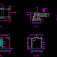 廊式花架施工图