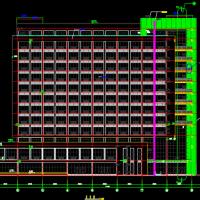 某地十三层框架结构高层办公楼建筑设计施工图纸