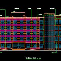 L形五层框架结构办公楼建筑结构设计图(4600平米)