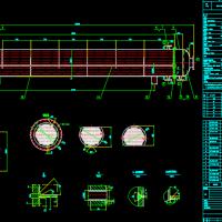 列管式冷凝器设计图装配图cad图纸