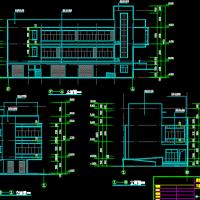 湖南某地两层砖混结构社区服务综合楼结构图