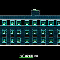 三层框架结构小型办公楼建筑结构水电全套图(1500平米)