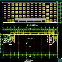 5层框架结构办公楼建筑结构毕业设计图纸(4160平)