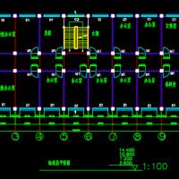 六层框架结构办公楼建筑结构课程设计图(3116平米)