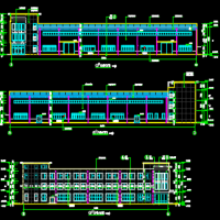 某皮革制品钢框架结构厂房建筑结构全套图(砌体外围护结构)