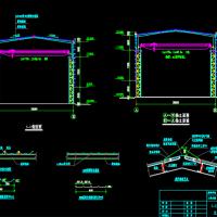 28.5米跨带吊车单层门式刚架厂房施工图(格构柱)