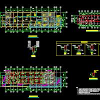 广东二层坡屋顶温泉酒店结构施工图(条形基础)