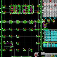 [湖南]地上24层框架核心筒结构商务楼结构施工图