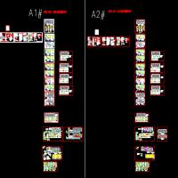 两套24F纯剪力墙结构住宅楼结构设计施工图(山地建筑)