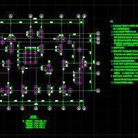 江西11层小高层住宅楼异型框架剪力墙结构图(预应力混凝土管桩)