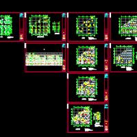 休闲风情街商铺楼结构图
