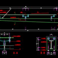 轻钢玻璃雨棚建筑设计图